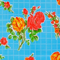Oilcloth Rosedal blue