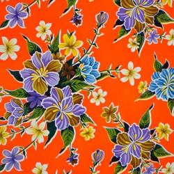 Toile cirée Hibisco orange