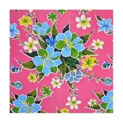 Oilcloth hibiscus pink