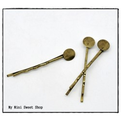Bobby pin hair clip- Bronze