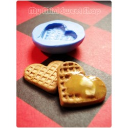 Silicone Heart Shapped Waffle mould