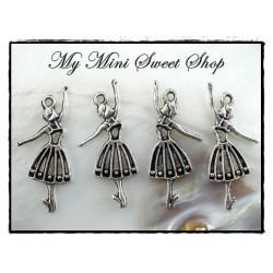 Ballerina charm - Silver