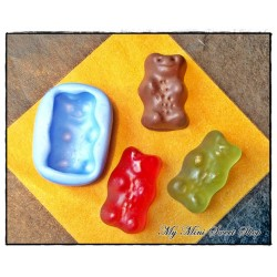 Silicone small gummy crocodile mould