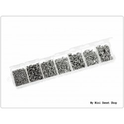 Boîte de 1500 anneaux ouverts - Argent