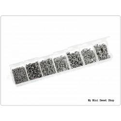 Kasten mit 1500 Biegering - Silber