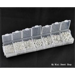 Caja con 1500 anillas - Plata