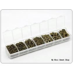 Caja con 1500 anillas - Bronce
