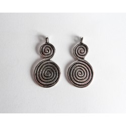 Double spiral pendant - Silver