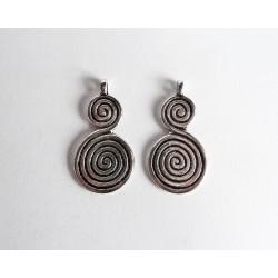Pendentif double spirale - Argent