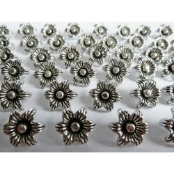 Flower charm - Silver