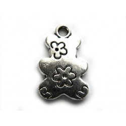 Musical note charm - Silver
