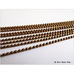 Chaîne billes 1.5mm - Bronze