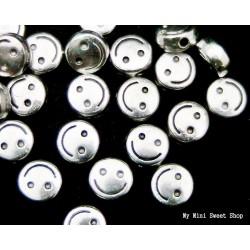 Kraal ronde platte - Zilver