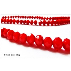 Crystal faceted bead - Red