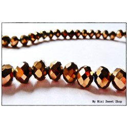 Crystal faceted bead - Bronze