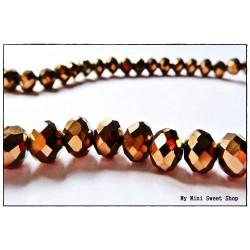 Perle à facettes - Bronze