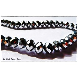 Crystal faceted bead - Silver