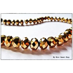 Crystal faceted bead - Gold