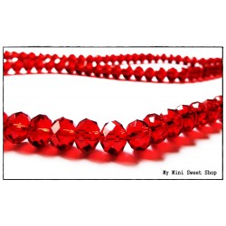 Red Faceted Glass Bead - 8mm