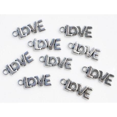 Breloque LOVE - Argent