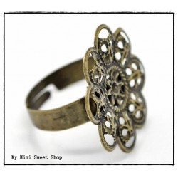 Ring Rohlinge mit Klebeplatte - Bronzefarbe