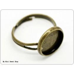 Ring Rohlinge mit Klebeplatte 18mm - Bronzefarbe