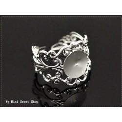 Support de bague anneau filigrane - Bronze