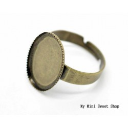 Ring blank with pad 18mm - Bronze