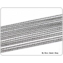 Chaîne billes 1.5mm - Argent clair