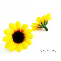 Fleur en tissu - Tournesol