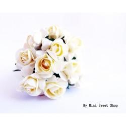 Rose en papier - Crème