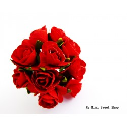 Mini rose en papier - Rouge