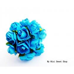 Mini rose en papier - Turquoise