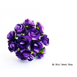 Mini rose en papier - Violet