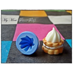 Silicone whipped cream mould