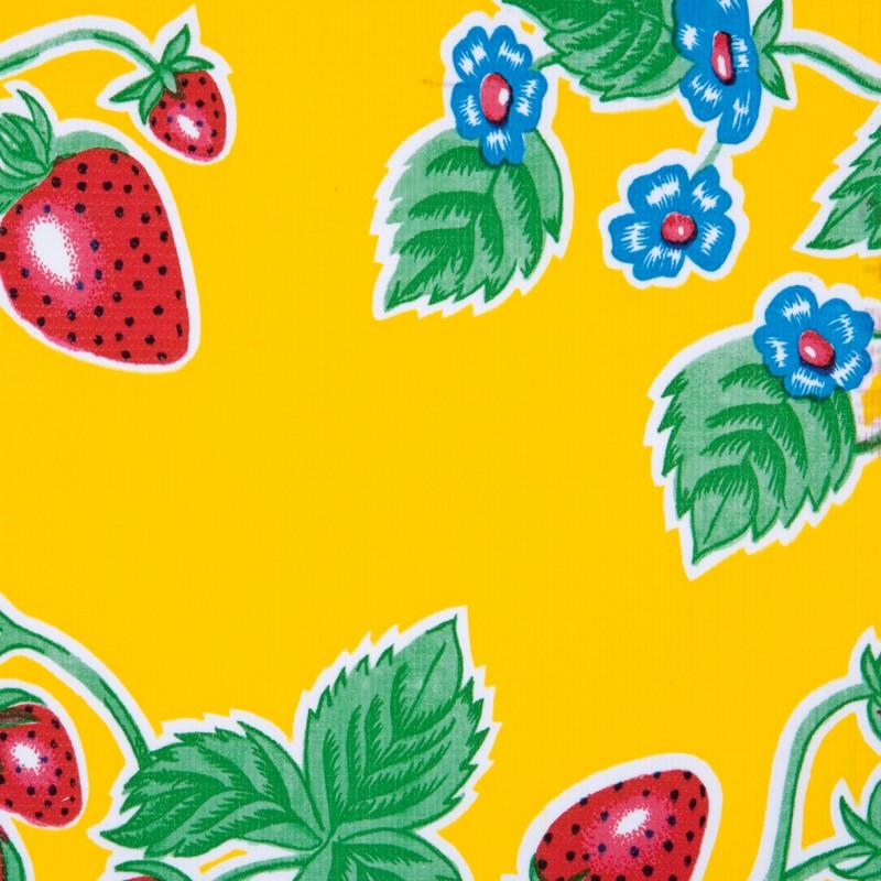 stoff mit erdbeeren