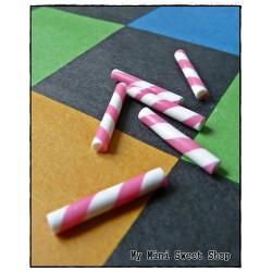 6 Mini Bastoncini di Zucchero - Rosa