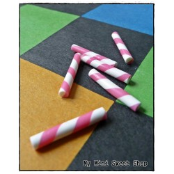 6 Mini Candy Sticks - Pink