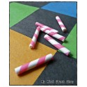 6 Mini Candy Sticks - Pink