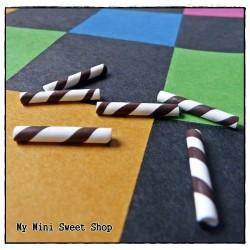 6 Mini Zuurstokken - Chocolade