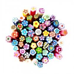 10 Fimo canes de flores