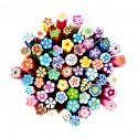 10 canes fleurs