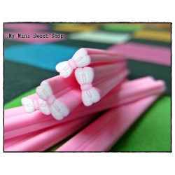Rosa Schleife Polymer Clay Stick