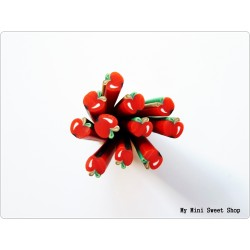 Red apple polymer clay cane