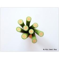 Melon polymer clay cane