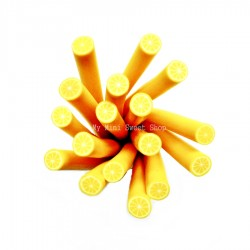 Zitrone Polymer Clay Stick