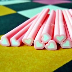 Hellrosa Herz Polymer Clay Stick