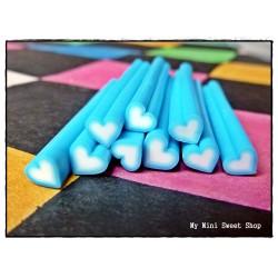 Blaue Herz Polymer Clay Stick