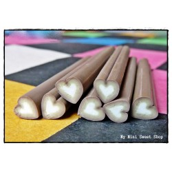 Schokolade Herz Polymer Clay Stick