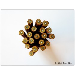 Schokolade Blume Polymer Clay Stick